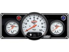 "Quickcar 2 Gauge Black Panel w/ 5"" Tach - OP/WT"