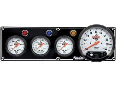 "Quickcar 3 Gauge Black Panel w/ 5"" Tach - OP/WT/OT"