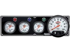 "Quickcar 3 Gauge Black Panel w/ 5"" Tach - OP/WT/FP"