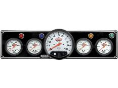 "Quickcar 4 Gauge  Black Panel w/ 5"" Tach - OP/WT/OT/FP -"