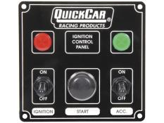 Quickcar Ignition Panel - 1 Acc Switch w/2 Lights - (Black)