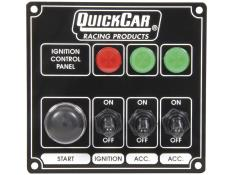 Quickcar Ignition Panel - 2 Acc Toggles w/ Lights - (Black)