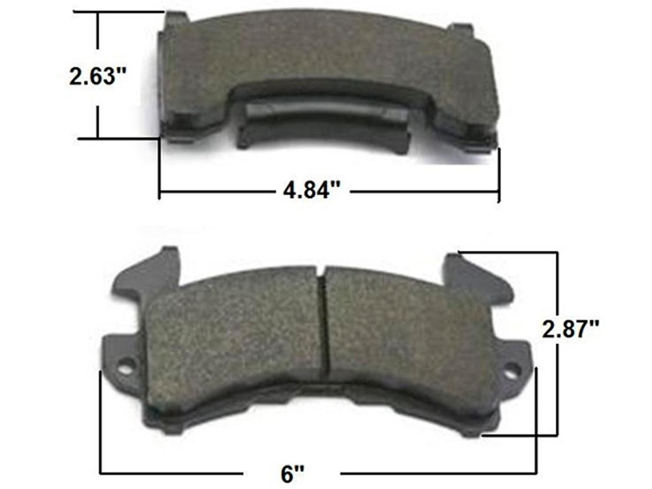 AFCO GM Metric Brake Pads - C1 - (Less Aggressive)