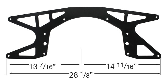"Out-Pace Lightweight Chevy Mid Plate - (5/8"" Offset)"