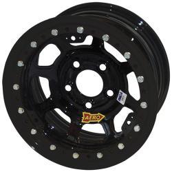 "AERO 53 Series Flat Black - Beadlock - 5 X 5 - 2"" Off - IMCA"