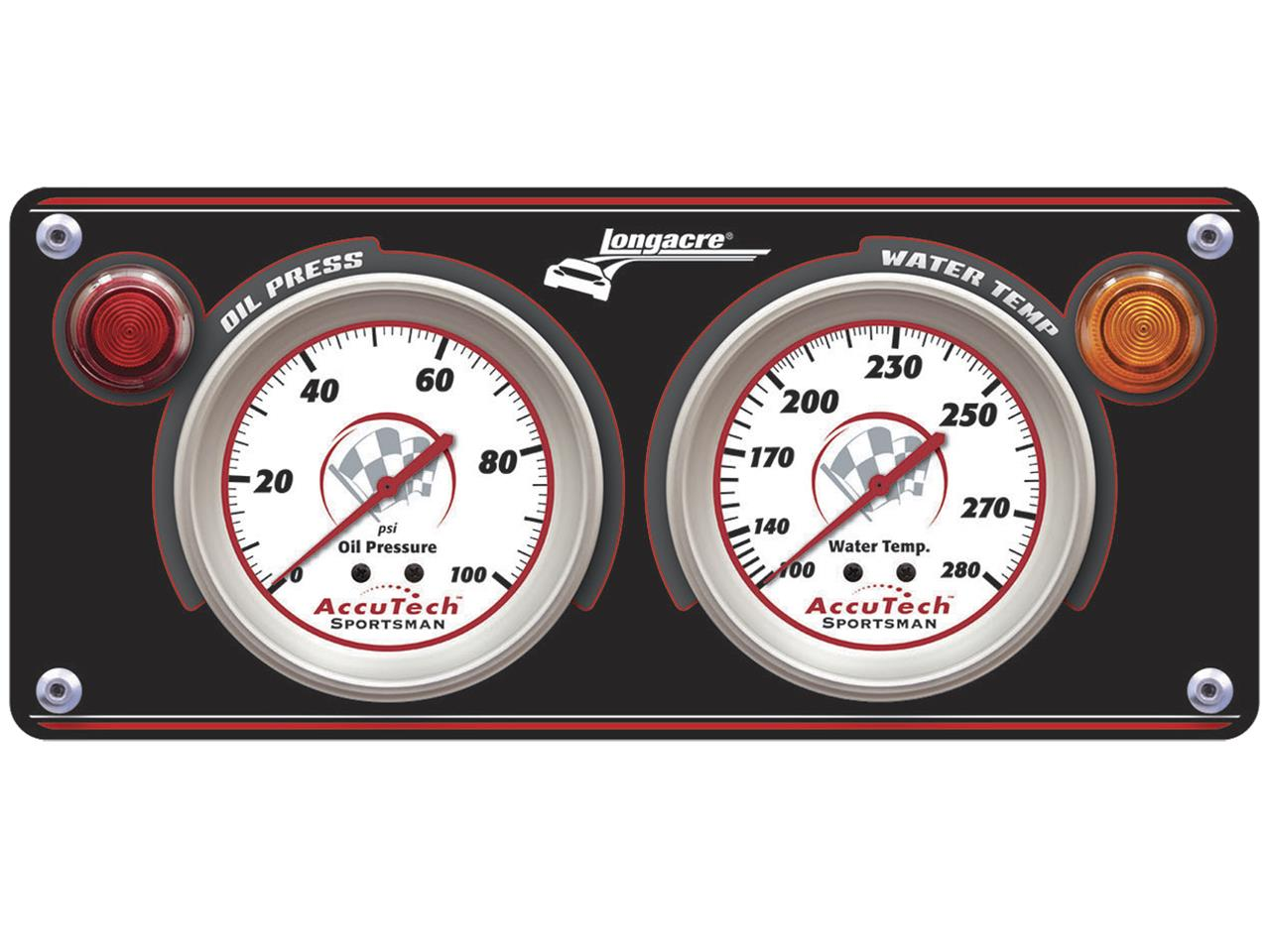Longacre Sportsman 2 Gauge Panel - (OP/WT)