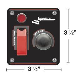 Longacre Ignition Panel w/ Flip-Up Switch & Light - (Black)