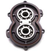Bulldog Billet Aluminum Rear Cover W/Bearings-Black