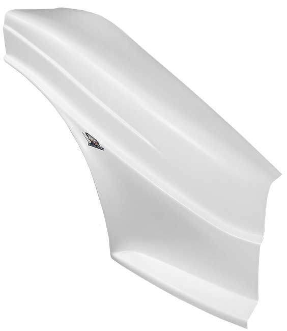 MD3 Evolution 1 FLAT Right Side Fender - (White)