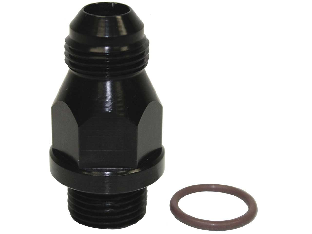 Carb Adapter - #8 x 3/4-16 ORB - Braswell (Black)