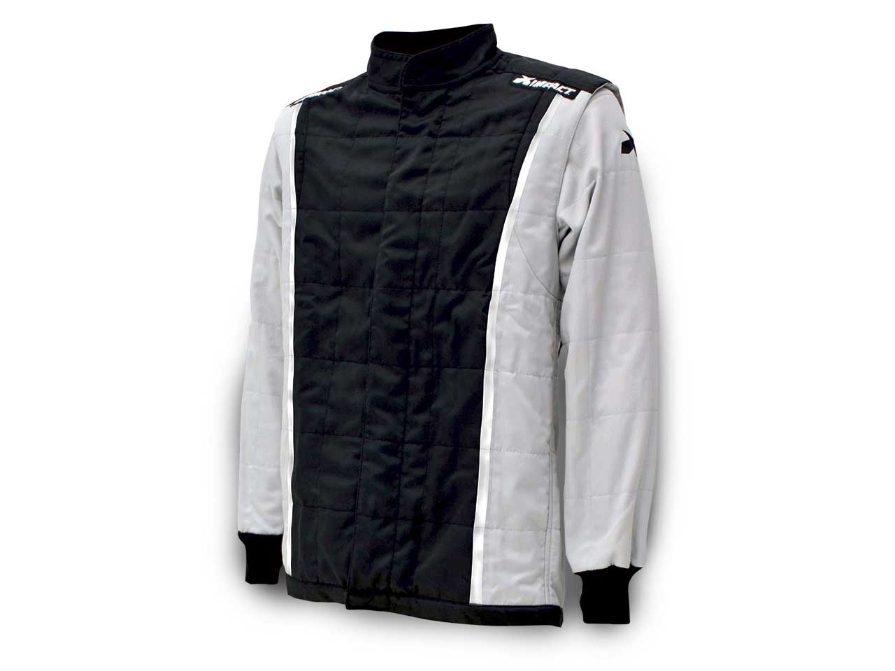 Impact Racer Jacket ONLY - BLACK with GRAY - Medium