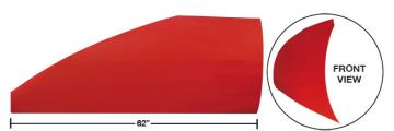 "Modified 62"" Straight Roof Post Kit - (Red)"