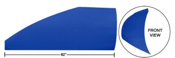 "Modified 62"" Straight Roof Post Kit - (Chevron Blue)"