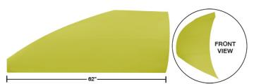 "Modified 62"" Straight Roof Post Kit - (Yellow)"