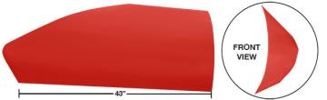 "Modfied 43"" Angled Roof Post Kit - (Red)"