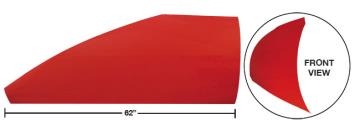 """Modified 62"""" Angled Roof Post Kit - (Red)"""