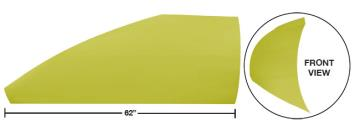 """Modified 62"""" Angled Roof Post Kit - (Yellow)"""
