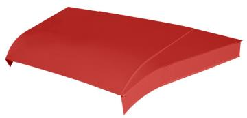 "Modified 5-pc Aluminum Hood Kit w/ 6"" Sides - (Red)"