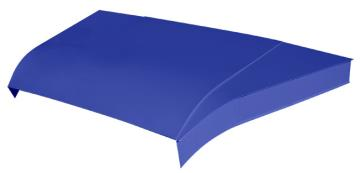 "Modified 5-pc Aluminum Hood Kit w/ 6"" Sides - (Chevron Blue)"
