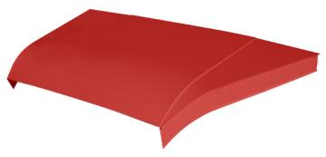 "Modified 5-pc Aluminum Hood Kit w/ 4"" Sides - (Red)"