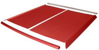 Flat Top 2-pc Alum Roof Kit - (Red / Red Cap)