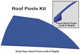 Late Model Solid Roof Post Kit - (Chevron Blue)