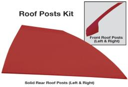 Late Model Solid Roof Post Kit - (Red)