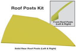 Late Model Solid Roof Post Kit - (Yellow)
