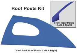 Late Model Window Opening Roof Post Kit - (Chevron Blue)