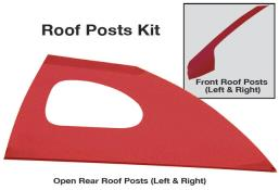 Late Model Window Opening Roof Post Kit - (Red)