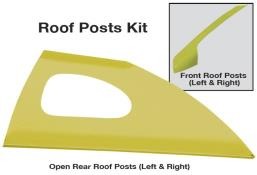 Late Model Window Opening Roof Post Kit - (Yellow)