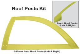 Late Model 3 pc. Open Roof Post Kit - (Yellow)
