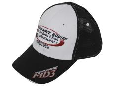Performance Bodies Hat - MD3 - White & Black Mesh