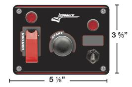 Longacre Ignition Panel w/ Flip-Up and Acc Switch w/ Lights
