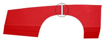 88 Monte Carlo 2 pc Lower Right Quarter Kit - (Red Alum)