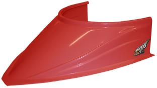 "MD3 Curved Bottom 4-3/4"" Hood Scoop - (Red)"