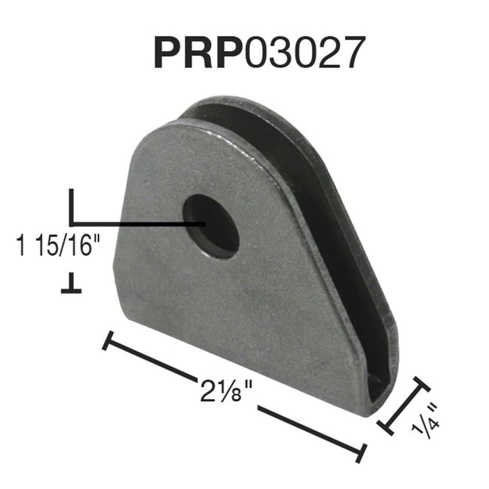 """PRP Double Shear Seat Belt Tab - 1/8"""" Steel - 1/2"""" Hole-(Ea)"""