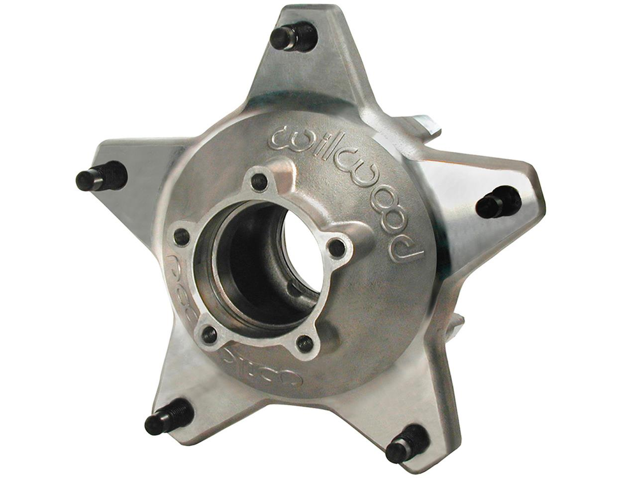 Wilwood Starlite 55 Rear 5 Bolt Hub - Silver - Drilled Studs
