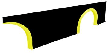 MD3 Wheel Flare Kit - 3 pc. - (Left - Flourescent Yellow)