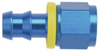 "Aluminum Straight Push Lite Reducer - #8 x 3/8"" (Blue)"