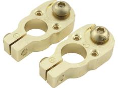 Picture of Quickcar Battery Terminals Top-Mount Gold Plated Brass