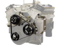 Picture of Jones SBC-Crate Serpentine Water Pump & Power Steering Kit (Built-In Reservoir)