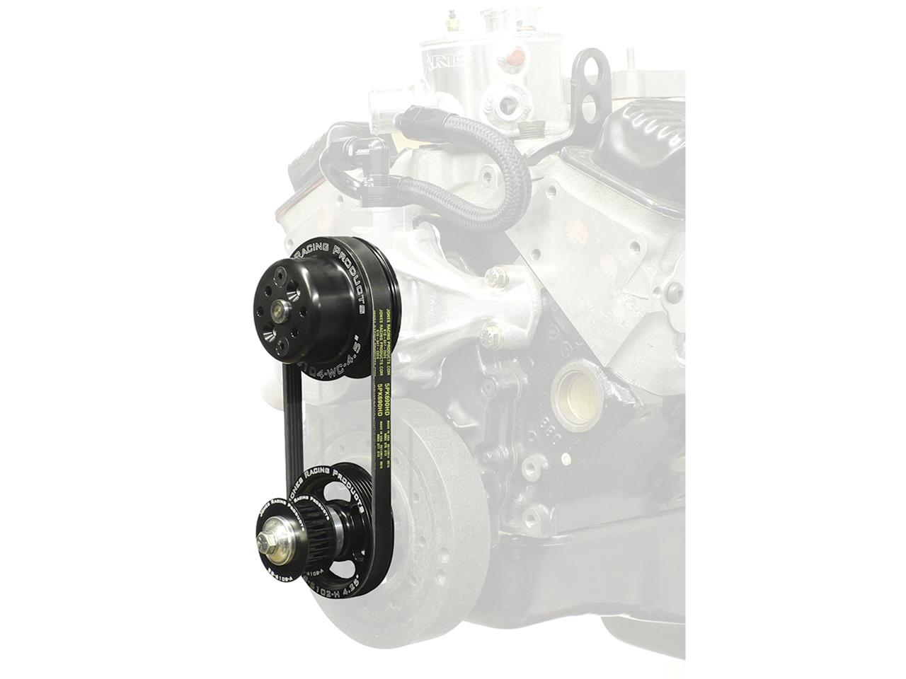 Picture of Jones SBC-Crate Serpentine Water Pump & Tandem Pump Drive Kit (KSE/Sweet)