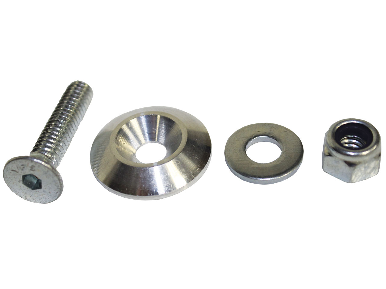 PRP Silver Countersunk Bolt Kit -  (20 pack)