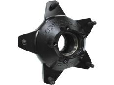 Wilwood Starlite 55 Rear 5 Bolt Hub - Black - Drilled Studs
