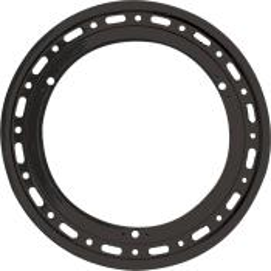 Weld Bolt-On Black Beadlock Ring for 6-Hole Wheel Cover