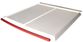 Flat Top 2-pc Alum Roof Kit - (White / Red Cap)