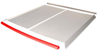 Flat Top 2-pc Alum Roof Kit - (White / Flo Red Cap)