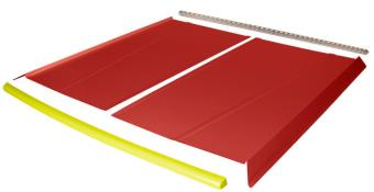 Flat Top 2-pc Alum Roof Kit - (Red / Flo Yellow Cap)