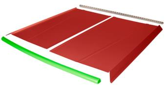 Flat Top 2-pc Alum Roof Kit - (Red / Flo Green Cap)